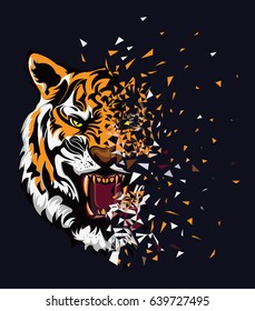 tiger style tee graphic
