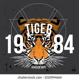 tiger t shirt design vector