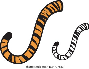 Tiger tail design vector illustration