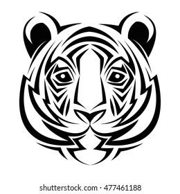 Tiger Tribal Tatto Animal Creativity Design Vector De Stock Libre