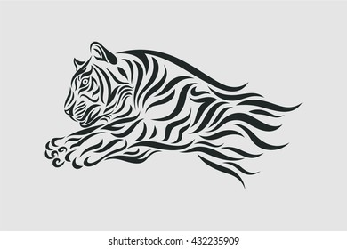 500 Tribal Tiger Tattoo Pictures Royalty Free Images Stock
