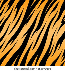tiger texture abstract background orange black vector jungle strip