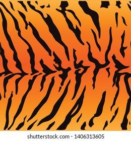 Tiger texture seamless backraund vector illustration