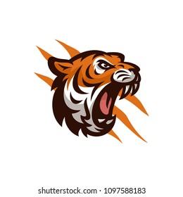 Tiger vector icon logo mascot illustration