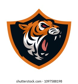 Tiger vector icon logo mascot illustration