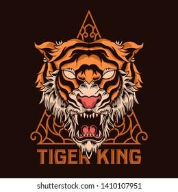 Tiger Vector Illustration Tshirt Design