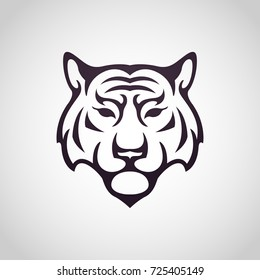 Tiger vector logo icon illustration