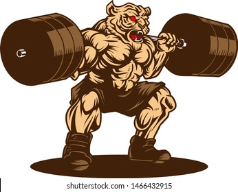 new style ab5a8 d87da Tiger Gym Images, Stock Photos & Vectors   Shutterstock