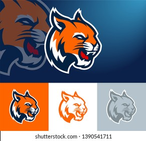 Tiger Wildcat Logo For Mascot Sports Team