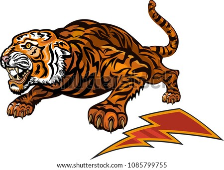 Tigers Color Tattoo Stock Vector (Royalty Free) 1085799755 ...