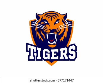 Tigers - logo, icon, illustration on white background