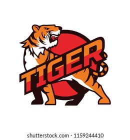 tigers logo isolated on white background, vector illustration