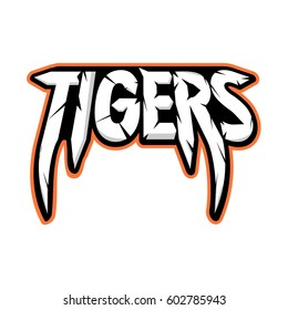 TIGERS team logo vector design EPS 10