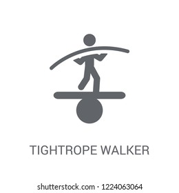 Tightrope walker icon. Trendy Tightrope walker logo concept on white background from Circus collection. Suitable for use on web apps, mobile apps and print media.