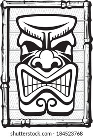 Tiki Also. Illustrated Tiki. Layered vector file available.