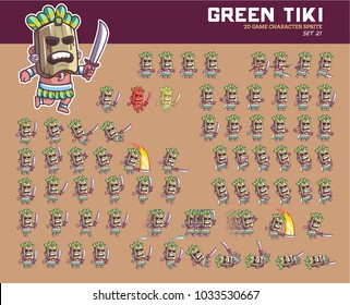Tiki Cartoon Game Character Animation Sprite