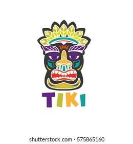 Tiki - hand drawn color illustration