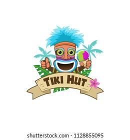 Tiki Hut Shaved ice logo