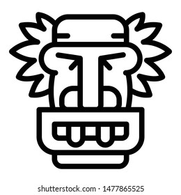 Tiki idol icon. Outline tiki idol vector icon for web design isolated on white background