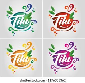 Tiki logo vector design, branding and packaging illustration