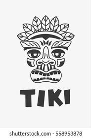 Tiki mascot vector illustration