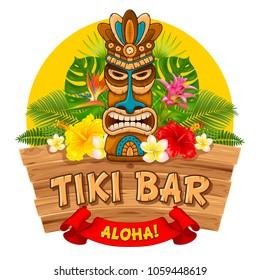 Luau Tiki Clip Art