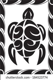 Tiki Turtle. Illustrated Tiki Turtle. Vector file available.