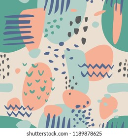 Tile abstract modern pastel vector pattern or hand drawn color splash background