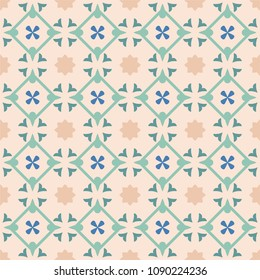 Tile decorative floor tiles vector pattern or seamless background