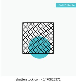 Tile, Floor, Slab, Square, Stripes, Tiles, Wall turquoise highlight circle point Vector icon. Vector Icon Template background