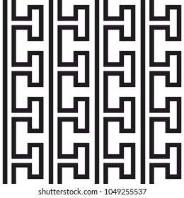 Tile greek black and white vector pattern