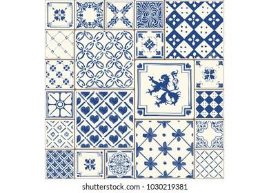 Tile illustration. Decor vector tiled illustration. Tiled original decoration with motives repetition.