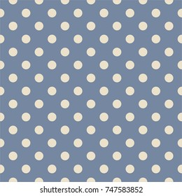 Tile pattern with grey polka dots on navy blue background