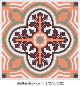 tile portuguese art ornament vintage brick