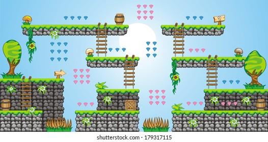 Platform Game Images, Stock Photos & Vectors   Shutterstock