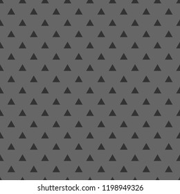 Tile vector pattern with black triangles on grey background