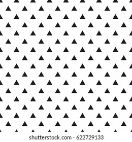 Tile vector pattern with black triangles on white background