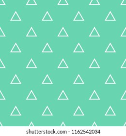 Tile vector pattern with white triangles on mint green background