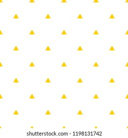 Tile vector pattern with yellow triangles on white background