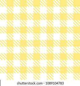 Tileable endless abstract rug bright golden color straight line shape template in old simple rural country classical style. Repetition of vibrant stripes. Close-up top detail view with space for text