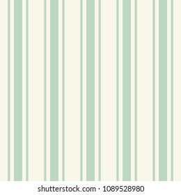 Tileable plain thin light teal color pinstripe template in artistic simple classic turquoise print style on beige fond. Repetition of modern motley bold tiffany strips. Close-up detail view