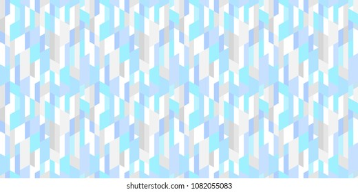 Tiled background with trapeziums and polygons. Geometric pattern. Abstract wallpaper. Seamless light texture. Print for banners, posters, flyers and textiles. Greeting cards. Doodle for design