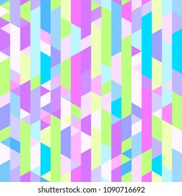 Tiled background with trapeziums and polygons. Geometric pattern. Abstract wallpaper. Seamless texture. Print for banners, posters, flyers and textiles. Greeting cards. Doodle for design