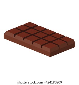 Tiles of dark chocolate on a white background/ Tiles of dark chocolate