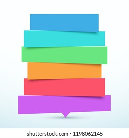 Tilted 6 Step Banners List Infographic Design