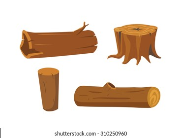 Timber and stump vector