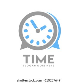 Time and alarm clock logo full vector