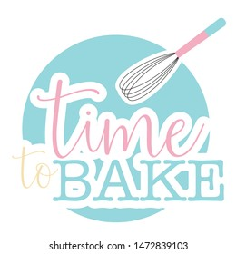 Time to bake clip art, digital sticker, bakers printable