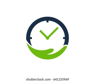 Time Care Icon Logo Design Element
