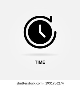 Time, Clock, History Icon Solid Style. Vector Icon Design Element. Vector Icon Template Background
